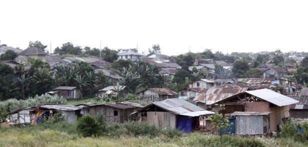 Rumah-rumah liar yang berdiri di wilayah Batam Centre, Batam (Wijaya Satria / Batam Pos)