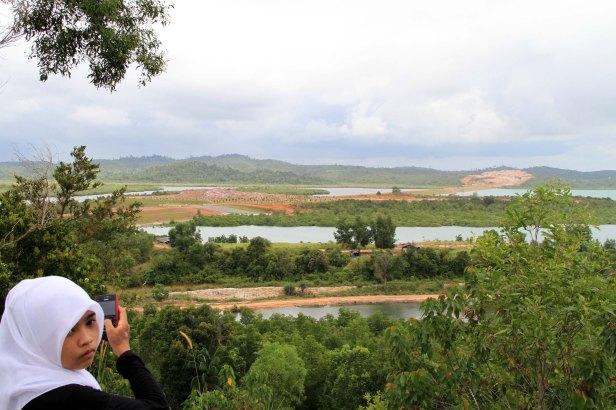 Waduk Tembesi yang dikelilingi Hutan Lindung Tembesi (Wijaya Satria/Batam Pos)
