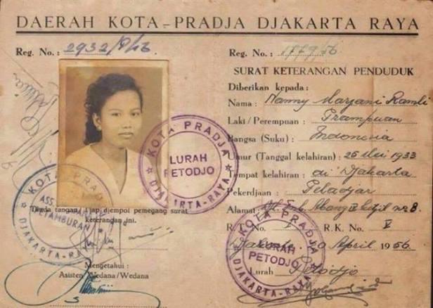 KTP Jakarta tahun 1956