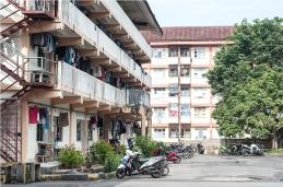 Suasana rusunawa pekerja lajang di Mukakuning. Rusunawa ini dimiliki oleh BP Batam.