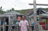 Haji, nelayan di Desa Setokok. Desa ini merupakan desa nelayan tertua di Batam.