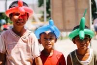 Anak-anak di Sekupang dalam sebuah acara bakti sosial
