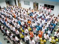 Pelajar SMA dan SMK mengikuti seleksi Pasukan Pengibar Bendera.