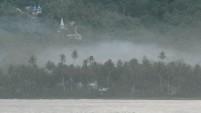 Pemandangan perbukitan di Teluk Dalam, Nias Selatan.