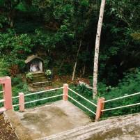 Halaman belakang rumah reatreat Fransiskan di Gunung Sitoli.