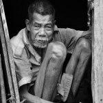 Manan, warga tertua dari suku hutan Batam. Meninggal Juli 2015.