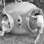 Anak-anak bermain di taman.