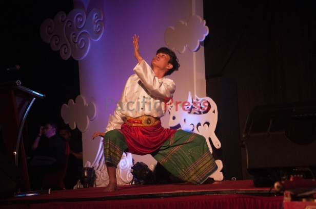 A man performs a traditional dance at Eastern Indonesia Forum Festival. The festival was attended by many civil societies and NGOs from many areas in Eastern Indonesia and became an event to display and study achievement of many smart practices done by local communities based on their local wisdom in order to improve their welfare.